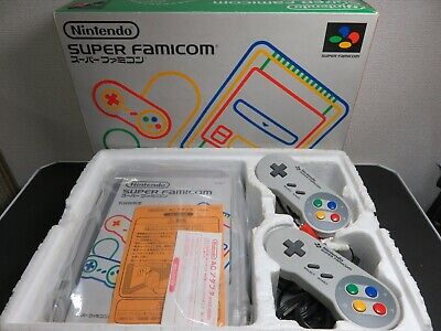 Nintendo Super Family Computer SFC Console Good Condition Boxed Tested TA80