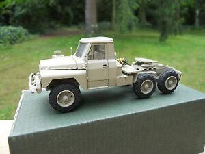 vehicule militaire cef acmat 1 50 tpk 635 tracteur 6x6 couleur sable mib ebay. Black Bedroom Furniture Sets. Home Design Ideas