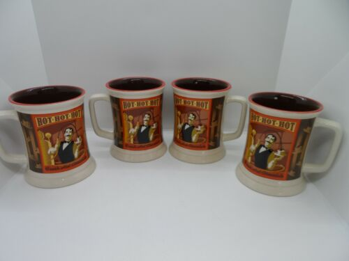 SET OF 4-THE POLAR EXPRESS FRESH HOT CHOCOLATE WARNER BROTHERS MUGS