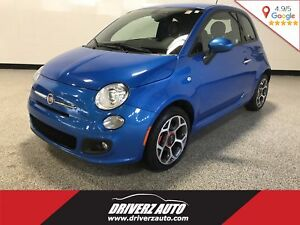 2016 Fiat 500 SPORT, LEATHER, Financing Available!!!