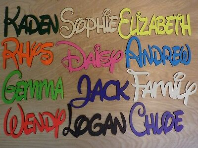 DISNEY Personalised Wooden Name Plaques Board Word/Letters wall/door craft sign*