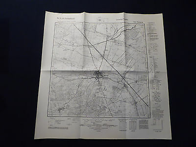 Landkarte Meßtischblatt 3241 Friesack, Kreis Ruppin, Havelland, von 1945