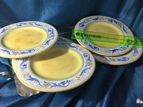 lot 5 dinner plates Handpaint stoneware southwest plate Desert Ridge Keridesign