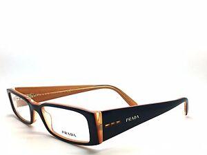 NEW Prada Eyeglasses VPR 10F Black mango orange 2BX-101  51mm