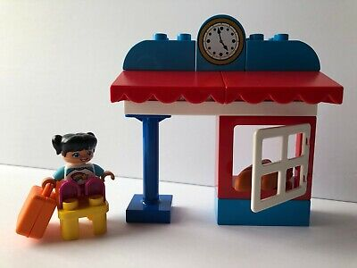 Lego Duplo Steam Train 10874 Train Station with Accessories AS PICTURED! New!