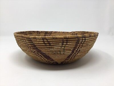 Vintage 1930's African Indian California Tight Weave Basket