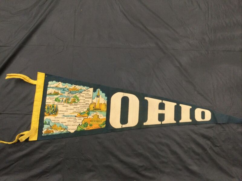 """Vintage Ohio Pennant 26"""""""