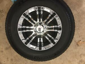 """18"""" RBP rims and tires for 2008-2010 gmc/ Chevy 2500"""