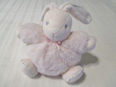 "7"" Kaloo Light Pink Bunny Rabbit Furry Chubby Floppy Plush Stuffed Doll EUC for sale  Bonham"