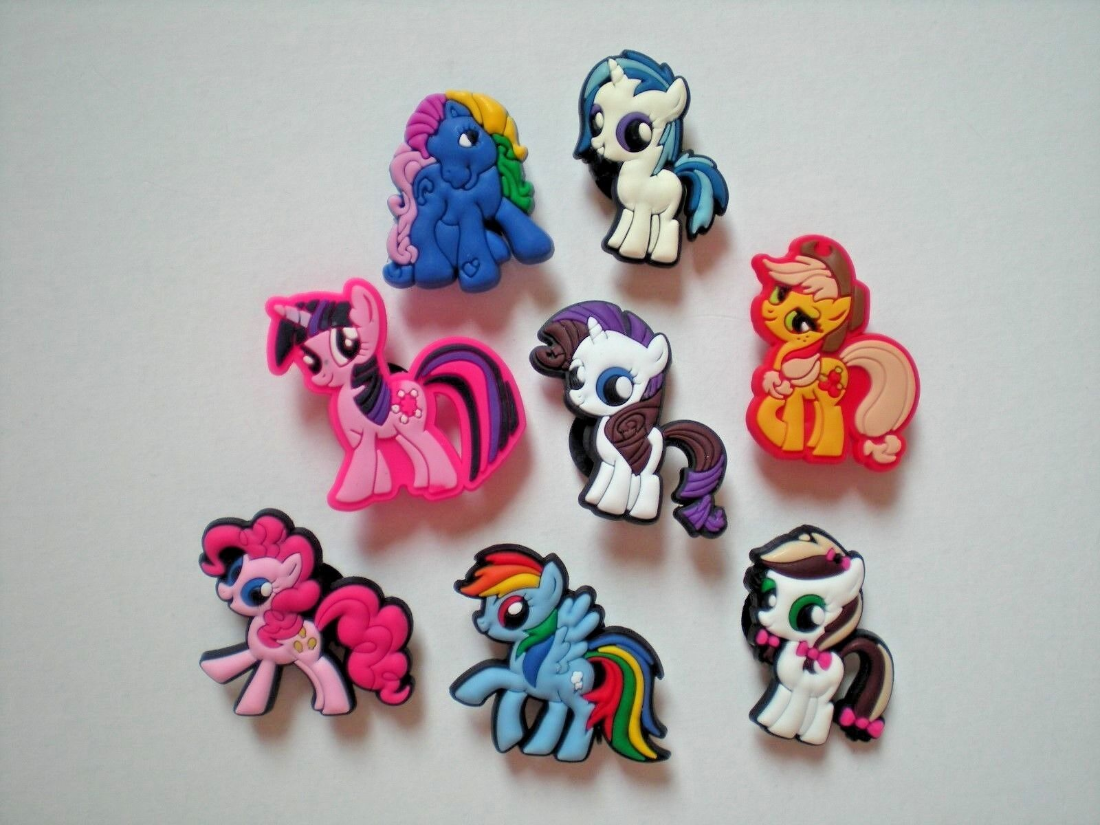 aa464d523 Details about JIbbitz Shoe Charm Button Plugs Fit Wristbands 8 My Little  Pony Pinky Pie
