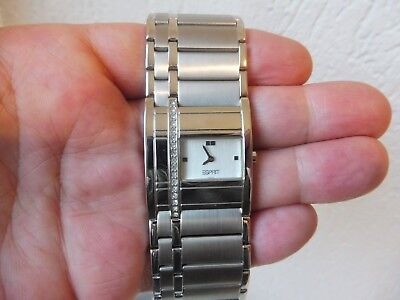 Classy Wrist Watch __Esprit__Stainless Steel __ with Stone __ New _