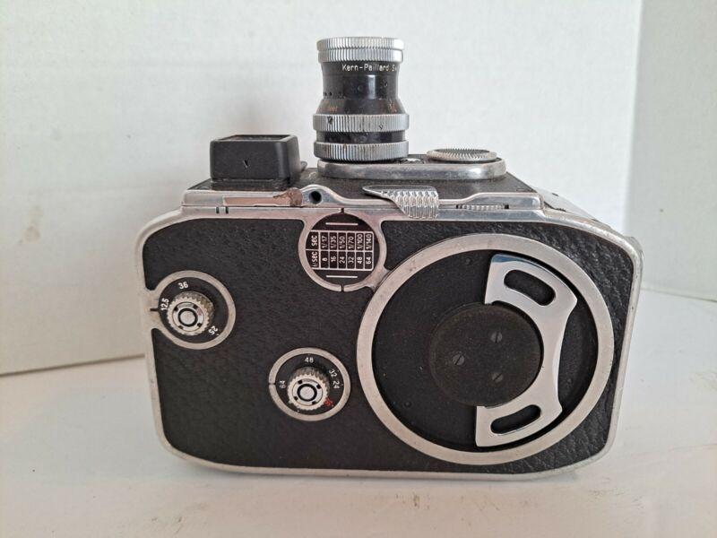 Vintage Paillard Bolex B8 Turret Movie Camera