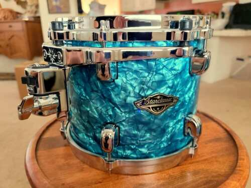 "*BRAND NEW* Tama Starclassic 10"" Birch Walnut Tom Drum Turquoise Pearl Wrap"