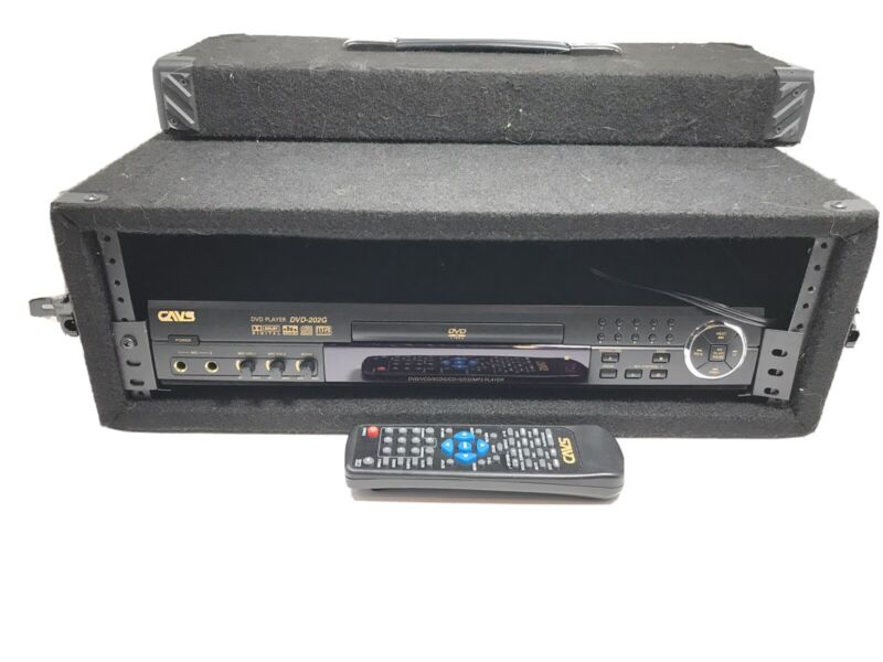 CAVS DVD-202G Karaoke DVD CD Player W/ Remote And Traveling Case Tested Working