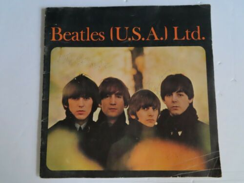 Beatles USA LTD 1965 Original Tour Concert Program Portland Oregon With History