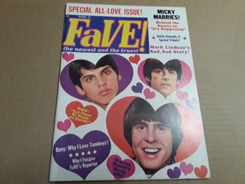 Vintage Fave Teen Magazine Vol. 2 No. 2 1968. Music, T V. Pop Culture