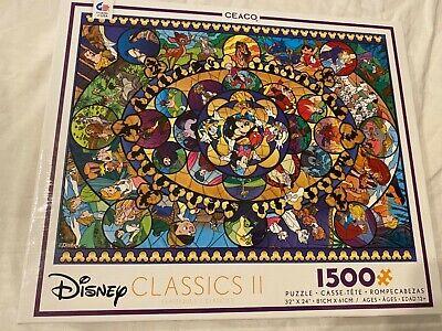 Mickey MOUSE Bambi SNOW WHITE Lion KING 1500 pc Jigsaw PUZZLE Walt Disney movie