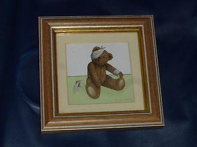 TEDDY BEAR PICTURE - Artist is JULIE CLAIRE - Picture Size 11 X 11 CM