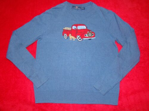 Vineyard Vines Boys Size Large 16 Woody Truck Dog Christmas Sweater