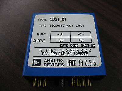 Analog Devices 5b31-01 Isolated Volt Input Module