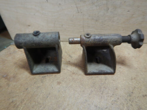 OLDER HEADSTOCK TAILSTOCK CASTINGS FROM SMALL VINTAGE WOOD LATHE