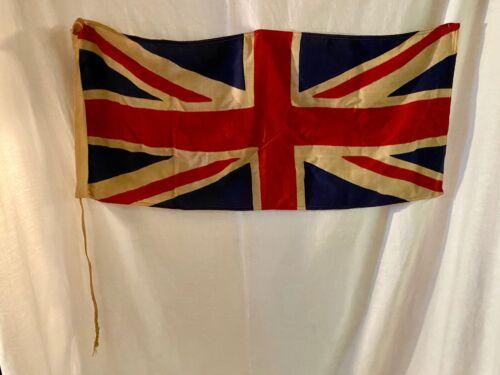 Vintage Linen Printed Union Jack Flag