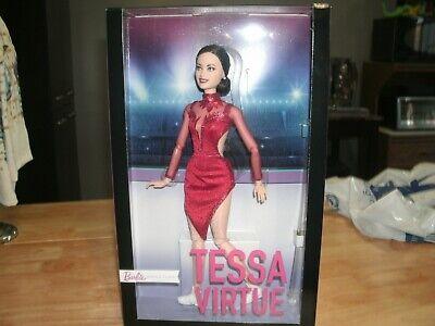 2020 Mattel Tessa Virtue Barbie Shero Doll Wearing Red Figure Skating Costume