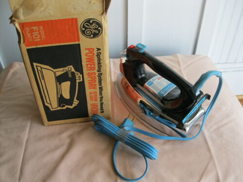 Vintage GE Spray Steam and Dry Iron F101 Works