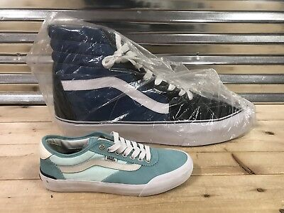 f939835a50ddb5 Vans Sk8 Hi SIZE 66 Store Display Promo Skate Shoe Black Blue White NEW!