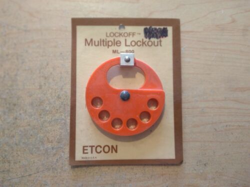 NEW ETCON ML800 MULTIPLE LOCKOUT ATTACHMENT - LOCKOUT/TAGOUT/SAFETY