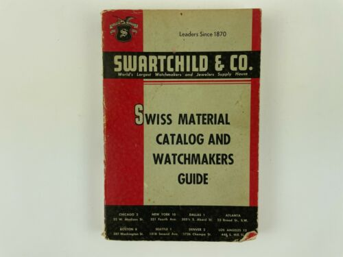 Swartchild & Co. Swiss Material Catalog and Watchmakers Guide, Softcover. 217H