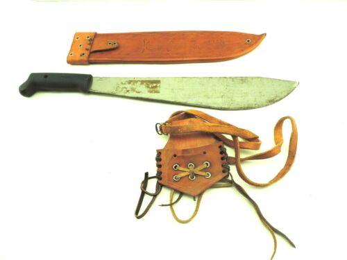 IMACASA Made In El Salvador No. 284 Machete Knife Sword leather case & Belt Clip