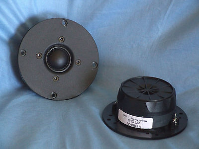 """Pair (2) SEAS 27TDFC 1"""" Fabric Dome High-End Tweeters- New!"""