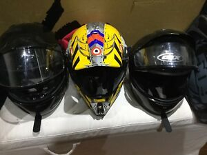 Casque  de ski doo quatre roues et motocross
