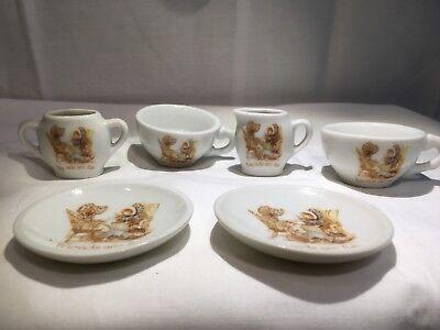 Vintage HOLLY HOBBIE Friends Are Fun China Tea Set 6 Piece