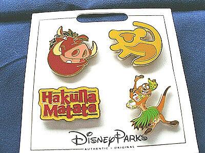 Disney Parks * LION KING * 4 Pin Set on Card Trading Pins -
