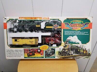 Vtg New Bright Electric RailKing G Scale Train Set # 375 1997 Christmas Tree