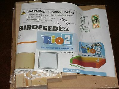 NEW HOME DEPOT KIDS WORKSHOP BIRD FEEDER RIO 2 KIT LOWES BUILD WOODEN PROJECT