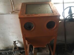 Homemade sand blasting cabinet for sale