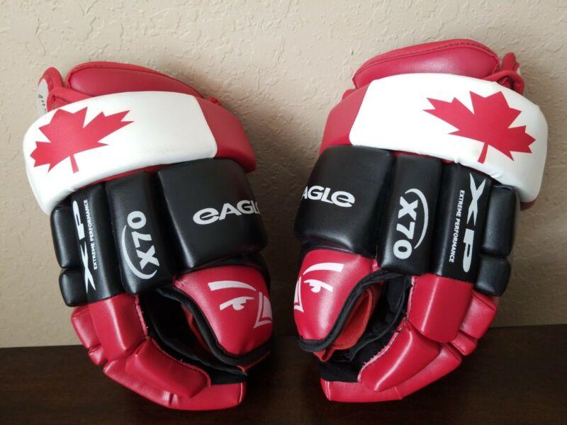 RARE Eagle Hockey Gloves Team Canada X70 XP Hockey Gloves Men