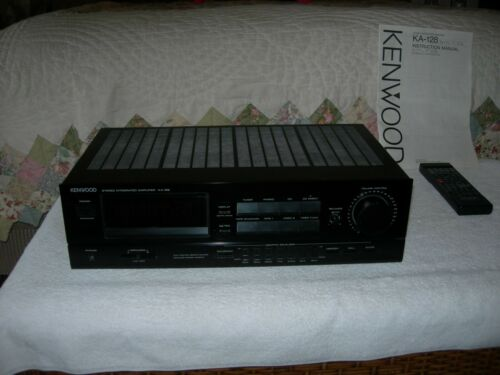 Kenwood Model KA-128 Stereo Integrated Amplifier Vintage With Remote / Manual