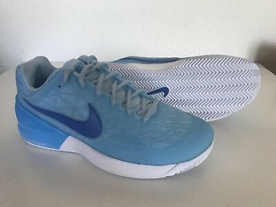 NEW NIKE ZOOM CAGE 2 EU CLAY WOMEN S TENNIS SHOES US 7.5 ICE BLUE 844963-402 a9dfb768b032