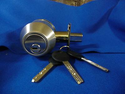 MUL-T-LOCK HIGH SECURITY LOCK GRADE 2 BOLT DOOR LOCK DEADBOLT 3 KEYS US32D COLOR
