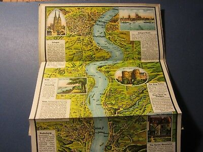 Old Vintage 1930's - Relief PANORAMA - RHINE River - GERMANY - Fold-Out
