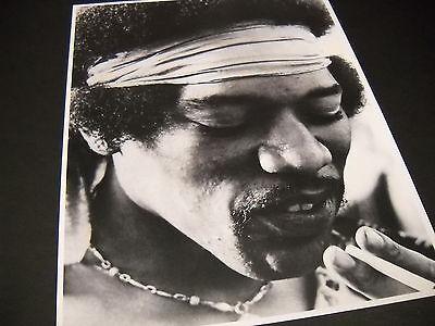 JIMI HENDRIX Headband & Cigarette vintage B/W Photo Style PROMO DISPLAY IMAGE Jimi Hendrix Headband