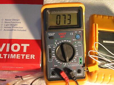 Digital Ammeter Multimetercapacitor Testertype K Thermocouple Hvac Electric