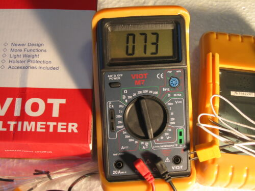 Digital Ammeter MultiMeter+Capacitor Tester+Type K Thermocouple HVAC Electric
