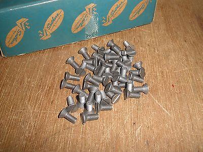 Qty.40 10-32 X 12 Flat Head Slotted Plain Steel Machine Screws New Vintage