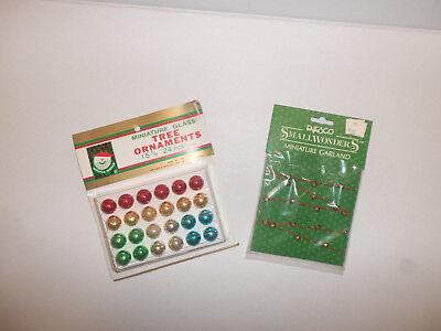 Enesco Small Wonders Miniature Bell Garland & 24 Multi Colored Mini Ornaments for sale  Lockport