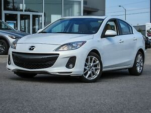 2013 MAZDA3 GT RARE PEARL WHITE ON BEIGE LEATHER NAV BOSE AUDIO
